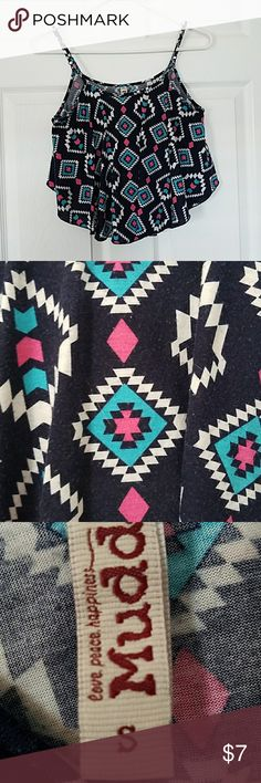 Aztec Patterned Crop Top Aztec Patterned Crop Top.  Size Small Mudd Tops Crop Tops
