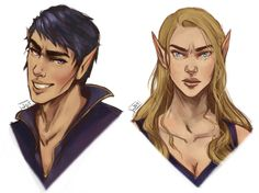 "faeriedustgirl: ""jessdoodlesthings: ""feysand concepts? portraits? who knows. I dont even know why feyres so scowly- maybe she's thinkin of Tamlin. "" """
