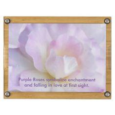Pastel Pink Purple Rose Rectangular Cheese Board