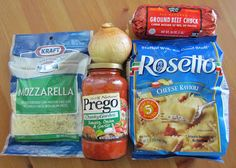 The Country Cook: Baked Ravioli--Only 5 ingredients!!  Definitely going to try this one!!