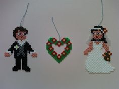 Wedding couple perler beads by Angie W. - Perler® | Gallery