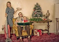 Christmas card idea!- ahahaha- the tedfords could pull this off