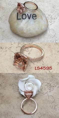 Morganite Engagement Ring from Laurie Sarah!  Purchase here: https://www.lauriesarahdesigns.com/product/morganite-engagement-ring-solitaire-diamond-side-halo/   #ls4595 #morganitering #morganiteengagementring #lauriesarah #lauriesarahring #jewelry #ring #