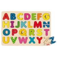 Wooden alphabet puzzle that comes presented on a tray. Each letter of the alphabet is recessed into the tray and each letter brightly coloured to stimulate little minds. Great for teaching the alphabet. Alphabet A, Wooden Alphabet, Teaching The Alphabet, Wooden Puzzles, Wooden Toys, Eco Friendly Toys, Educational Toys For Kids, School Decorations, Baby Boy Rooms