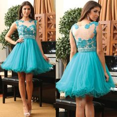 Homecoming Dress,Custom Turquoise Prom Dress, Short Prom Dresses,Cheap