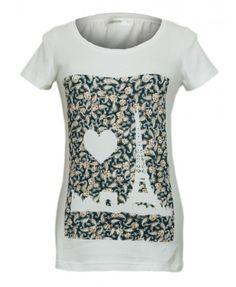 The Eiffel Tower Design Short Sleeve T-shirt