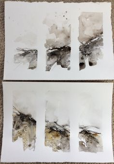 Ink & watercolour studies - mark making ideas Inspired by the landscape.mark making with ink & watercolour pigment sticks Abstract Watercolor Art, Abstract Drawings, Watercolor Sketch, Watercolor Landscape, Landscape Art, Painting & Drawing, Watercolor Paintings, Landscape Paintings, Watercolours