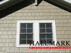 hardy board siding | Photo Above: James Hardie, HardiShingle siding installation .