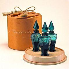 156: 1933 Ballarde 3 Floral Scent Perfume Bottles