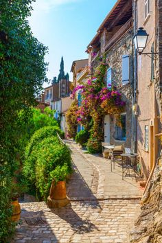 Picturesque Grimaud, France