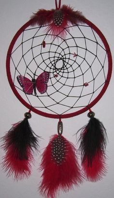 Butterfly Dreamcatcher 2 by GypsyCatt on DeviantArt Dream Catcher Decor, Dream Catcher Mobile, Large Dream Catcher, Dream Catcher Boho, Black Dream Catcher, Los Dreamcatchers, Beautiful Dream Catchers, Indian Arts And Crafts, Dream Catcher Native American