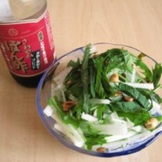 豆腐と水菜、大根のさっぱりサラダ