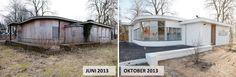 Voor en na situatie Praktijk Welschap renovatie door: Broeren|Das Bouwbedrijf