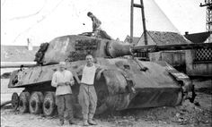 "Abandoned tank Pz.Kpfw.VI Ausf. B ""King Tiger"" from s.SS-Pz.Abt.501. Hungary, 1946."