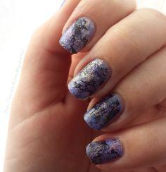 Purple marble nailart