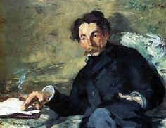 Retrato te Stéphane Mallarmé (pintado por Edouard Manet en 1876)