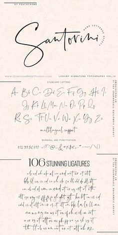 Santorini is an island-inspired Signature font. It also includes full set of uppercase and lowercase letters, multilingual symbols, numerals, punctuation. The font has smooth wet ink texture, so would Handwriting Alphabet, Handwriting Styles, Hand Lettering Alphabet, Calligraphy Letters, Brush Lettering, Pretty Fonts Alphabet, Modern Calligraphy Alphabet, Hand Lettering Styles, Signature Ideas