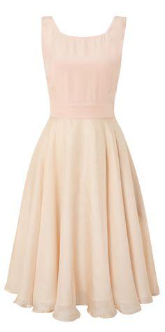 Blush fit + flare dress / Kilian Kerner