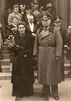 German Army General Kurt Schmidt at his son Günter Werner Schmidt's wedding, 4 Oct 1943