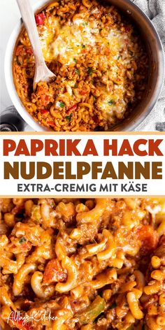 Einfache Nudelpfanne: Cremige One Pot Pasta mit Hackfleisch und Paprika One pot pasta with minced meat and bell pepper: aka the new pasta pan! This recipe makes a very quick and easy meal, perfect for a family and cooked in one pot! Beef Recipes, Vegetarian Recipes, Healthy Recipes, One Pot Recipes, Ground Meat Recipes, Noodle Recipes, Simple Recipes, Family Recipes, Pasta Recipes