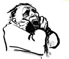Fettered Man, by Käthe Kollwitz, 1927