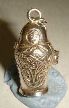 RARE VINTAGE SILVER OPENING RUSSIAN DOLL MATRYOSHKA CHARM in Jewellery & Watches, Fine Jewellery, Fine Charms & Charm Bracelets | eBay