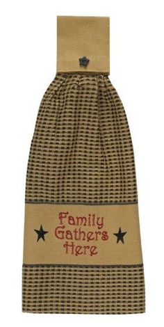 Family Gathers Here Hand Towel - Set of 3