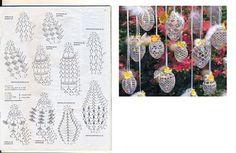 Szydełkowe Dziergadełka Nowak Katarzyna - Her Crochet Crochet Christmas Decorations, Crochet Ornaments, Holiday Crochet, Handmade Ornaments, Crochet Ball, Crochet Home, Thread Crochet, Easter Crafts, Holiday Crafts