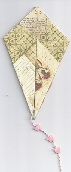 well its Kite flying weather so I thought I'd send you a site to see some real kites then a friend of mine Dorothy has this great pattern for making a kite card. Origami Kite, Origami And Kirigami, Wedding Place Names, Wedding Places, Kite Tail, Paper Art, Paper Crafts, Kite Flying, Toy Rooms