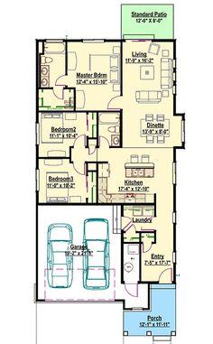 Narrow Lot Bungalow - 64414SC | 1st Floor Master Suite, Bungalow, CAD Available, Cottage, Craftsman, Narrow Lot, Northwest, PDF | Architectural Designs
