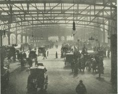 Glasgow Central Station between 1879 (year of construction) to 1896 (when it was greatly expanded).