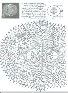 Cape hook from Anna Sui (Spring Recruitment patterns + pattern. Discussion on LiveInternet - Russian Service Online Diaries Crochet Doily Diagram, Crochet Doily Patterns, Crochet Chart, Filet Crochet, Crochet Designs, Crochet Doilies, Crochet Books, Crochet Home, Thread Crochet