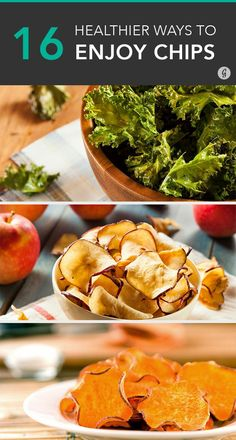 Healthier Ways to Satisfy Any Chip Craving Healthy chips to satisfy those cravings. All you need is a little olive oil.Healthy chips to satisfy those cravings. All you need is a little olive oil. Healthy Chips, Healthy Snacks, Healthy Eating, Healthy Recipes, Paleo Chips, Fruits Déshydratés, Healthy Chip Alternative, Healthy Alternatives To Chips, Homemade Chips