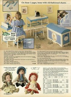 Hollie Hobby Dolls and Furniture 1977