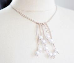 Easy Pearl and Leather Necklace Tutorial - The Beading Gem's Journal