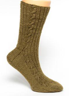 Link Cable Rib Socks by Jean Murdoch Crochet Socks, Knit Socks, My Socks, Knit Crochet, Sock Knitting, Sock Yarn, Free Knitting, Knitting Patterns, Knit Stockings