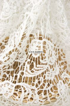Ivory Wedding Lace Fabric Vintage Floral by the by LaceFabrics, $30.00