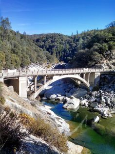 Concrete arch #bridge over the South Fork Yuba River - Nevada County, CA.  #BeTheBridge