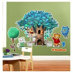 Any Daniel Tiger fan will love these Daniel Tiger's Neighborhood Giant Wall Decals. Daniel Tiger Party, Daniel Tiger Birthday, Neighborhood Party, Daniel Tiger's Neighborhood, Latex Balloons, Foil Balloons, 2nd Birthday Parties, Birthday Ideas, Wall Decals