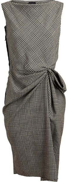 Lanvin Checked Wool Dress