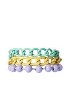 ASOS Pastel Coated Mixed Chain Bracelet - ASOS Price: £15.00