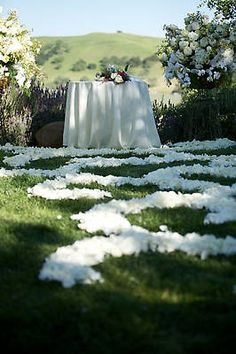 Firestone Winery ceremony  Eco-friendly rose petals are available at Flyboy Naturals Rose Petals.  Non-staining & not slippery!  Super affordable too! www.flyboynaturals.com