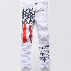2018 fashion stylish cool mens pants jeans with print graffiti painted denimheavengifs