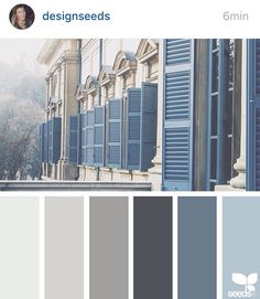 Ideas house exterior colors gray design seeds for 2019 Exterior Paint Colors For House, Paint Colors For Home, Exterior Colors, Exterior Design, Paint Colours, Diy Exterior, Garage Exterior, Rustic Exterior, Exterior Gris