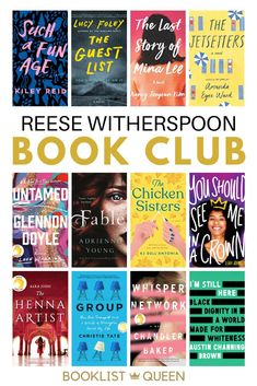 Enjoy the complete Reese Witherspoon book club list with all of Reese's book club picks. You'll find plenty of bestselling books among the Reese Witherspoon Book Club reading lists. Find the recent Reese Witherspoon Book Club picks including the Reese Witherspoon book club YA picks. Book Club Books 2017, Book Club List, Book Lists, Best Books To Read, Ya Books, Good Books, Book Suggestions, Book Recommendations, Reese Witherspoon Book Club