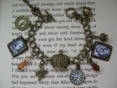 Alice in Wonderland Steampunk bracelet