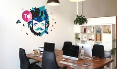 Studio Wall by Patswerk, via Behance