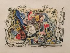 Jackson Pollock, 1945 crayon, colored pencil, ink and watercolor on paper