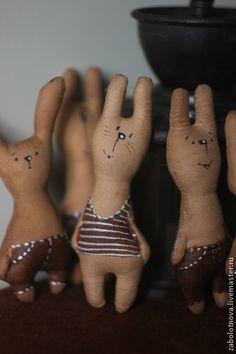 Зайцы-малыши - коричневый,заяц,заяц текстильный,Заяц в подарок,подарок