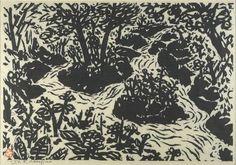 Sasajima Kihei: woodcut, 1956
